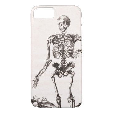 Halloween Themed Funny Vintage Skeleton iPhone 8/7 Case