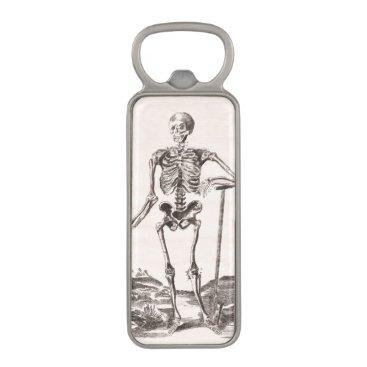 Halloween Themed Funny Vintage Skeleton Magnetic Bottle Opener