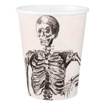 Halloween Themed Funny Vintage Skeleton Paper Cup