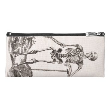 Halloween Themed Funny Vintage Skeleton Pencil Case