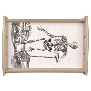 Halloween Themed Funny Vintage Skeleton Serving Tray