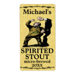 Funny Vintage Spirited Stout Beer Label Shipping Label