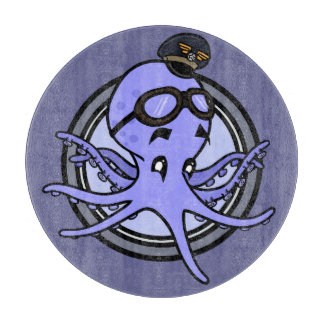 FUNNY VINTAGE STYLE OCTOPUS CUTTING BOARD