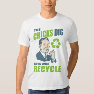 Funny Vintage Style Recycling Guy T-Shirt