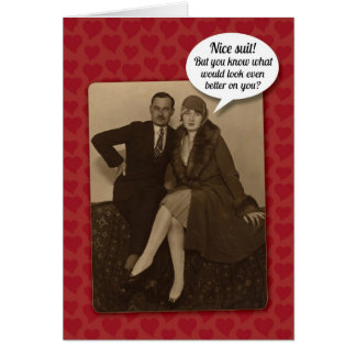 Funny Vintage Suggestive Valentine s Day Card