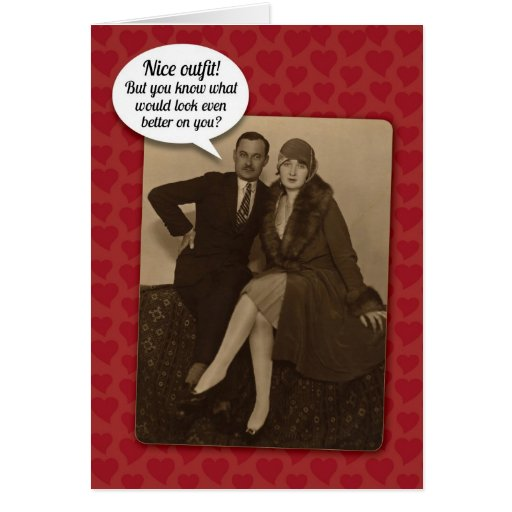 Funny Vintage Suggestive Valentine's Day Card | Zazzle