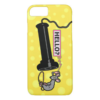 Funny Vintage Telephone and Retro Mouse Novelty iPhone 7 Case