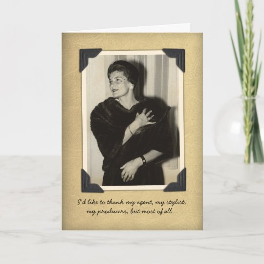 9c75d9405 Funny Vintage Thank You Card | Zazzle.com