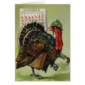 Funny Vintage Thanksgiving card