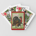 Funny Vintage Thanksgiving Turkey Playing Cards!