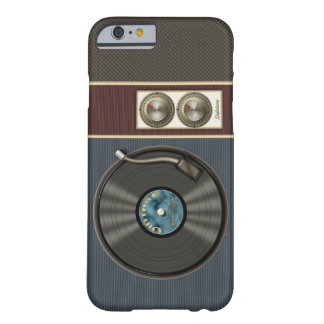 Funny Vintage Vinyl Record Player Barely There iPhone 6 Case
