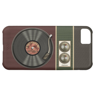 Funny Vintage Vinyl Record Player Cover For iPhone 5C