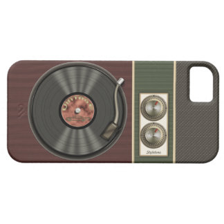 Funny Vintage Vinyl Record Player iPhone 5 Cases