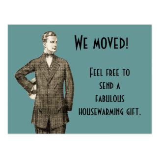 Funny Vintage We Moved Postcard