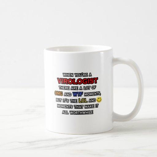Funny Virologist ... OMG WTF LOL Coffee Mugs