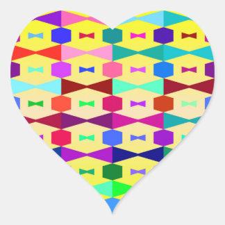 funny vivid pattern 1 (C) Heart Sticker