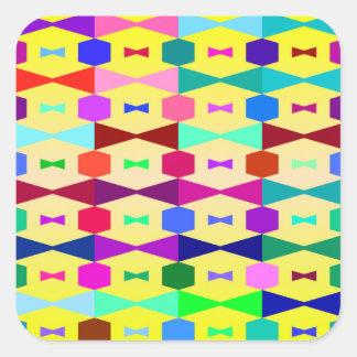 funny vivid pattern 1 (C) Square Sticker