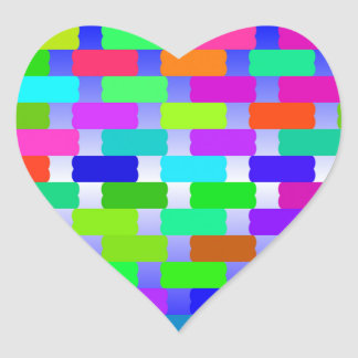 funny vivid pattern 2(C) Heart Sticker