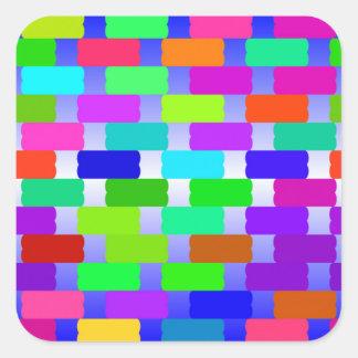 funny vivid pattern 2(C) Square Sticker