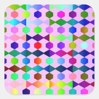 funny vivid pattern 3 (C) Square Sticker
