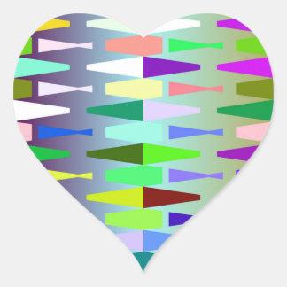 funny vivid pattern 4 (C) Heart Sticker
