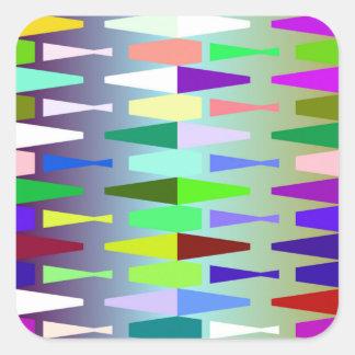 funny vivid pattern 4 (C) Square Sticker