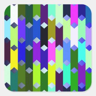 funny vivid pattern 5 (C) Square Sticker
