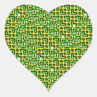 funny vivid pattern 6 (C) Heart Sticker