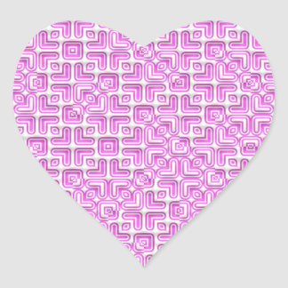 funny vivid pattern 7 (C) Heart Sticker