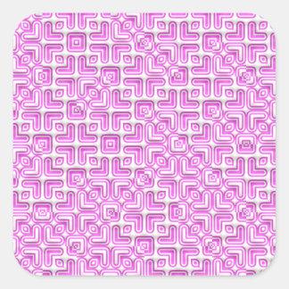 funny vivid pattern 7 (C) Square Sticker