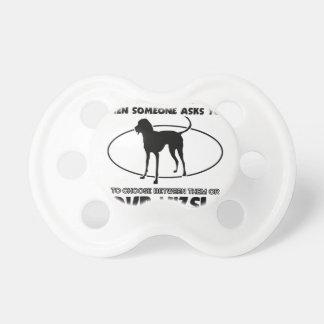 Funny Vizsla designs Pacifier