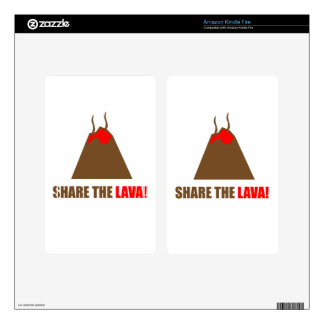Funny Volcano Decal For Kindle Fire