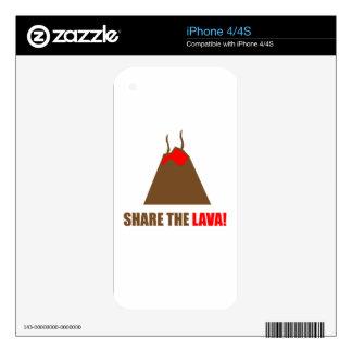 Funny Volcano Decals For The iPhone 4S