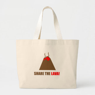 Funny Volcano Large Tote Bag