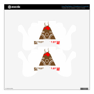Funny Volcano PS3 Controller Decals