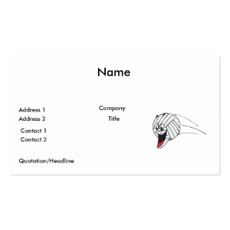 funny volleyball cartoon character in flight Double-Sided standard business cards (Pack of 100)