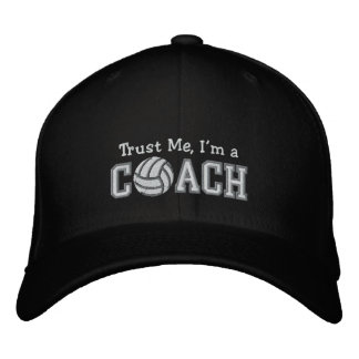 Funny Volleyball Coach Embroidered Baseball Hat
