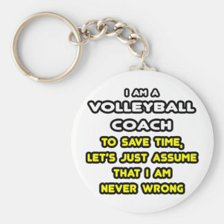 Funny Volleyball Coach T-Shirts and Gifts Key Chain