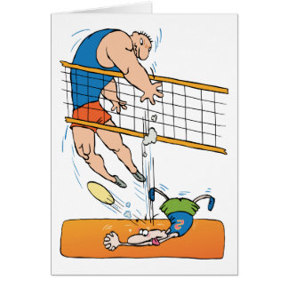Funny Volleyball Gift Greeting Card