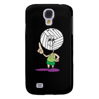 funny volleyball head cartoon character galaxy s4 case
