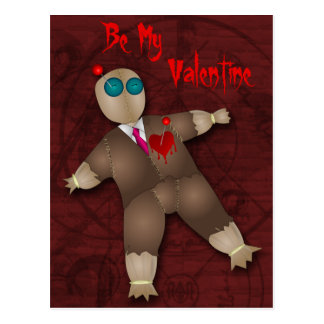 Funny Voodoo Love Valentine Postcard