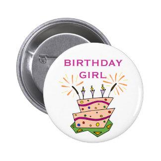 Funny Wacky Cake and Candles Birthday Girl Boy Pin