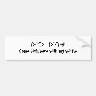 Funny Waffle Bumper Sticker