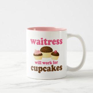 Funny Waitress Two-Tone Coffee Mug