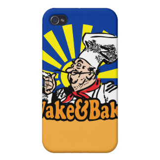 Funny Wake and Bake iPhone 4 Case