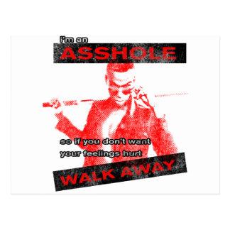Funny Walk away Post Card