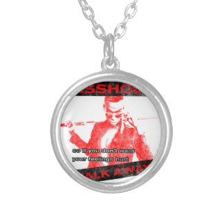 Funny Walk away Silver Plated Necklace