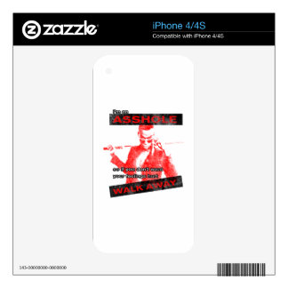 Funny Walk away Skins For The iPhone 4