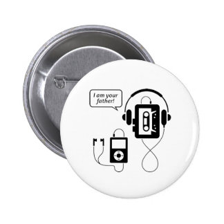 Funny Walkman 2 Inch Round Button