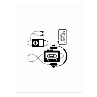 Funny Walkman Postcard